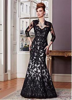 Glamorous Tulle sirène Queen Anne décolleté pleine longueur mère de la robe de mariée