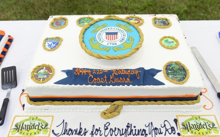 Pictured is a cake at the Coast Guard's 8th District Coast Guard Day celebration held at Naval Joint Reserve Base Belle Chasse, Aug. 2, 2013. The Coast Guard celebrated its 223rd birthday on Aug. 4.