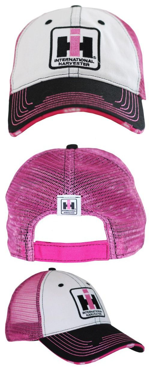 7a03e77eef7 Case IH Two Tone Distressed Trucker Cap Womens Pink in 2018 ...