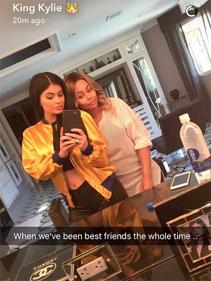 Kylie Jenner Jenner and Blac Chyna Pose for Snapchat: 'We've Been Best Friends the Whole Time'