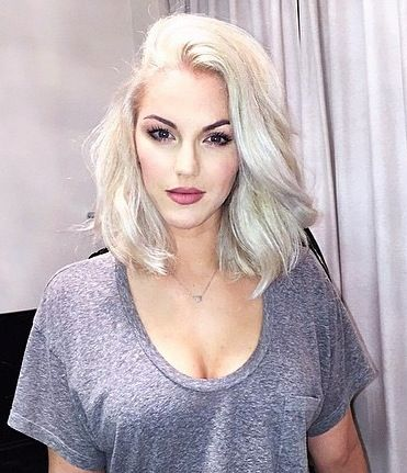 Love this short Platinum Blonde hair