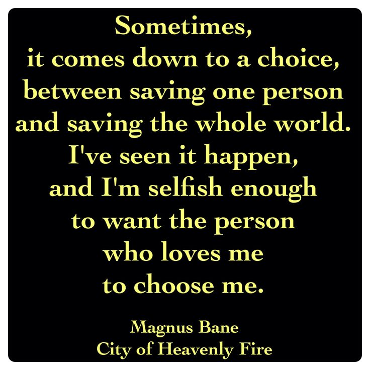 Magnus Bane (City of Heavenly Fire by Cassandra Clare ~ The Mortal Instruments book 6) Quote