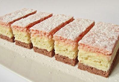 Citromhab: Háromszínű sütemény
