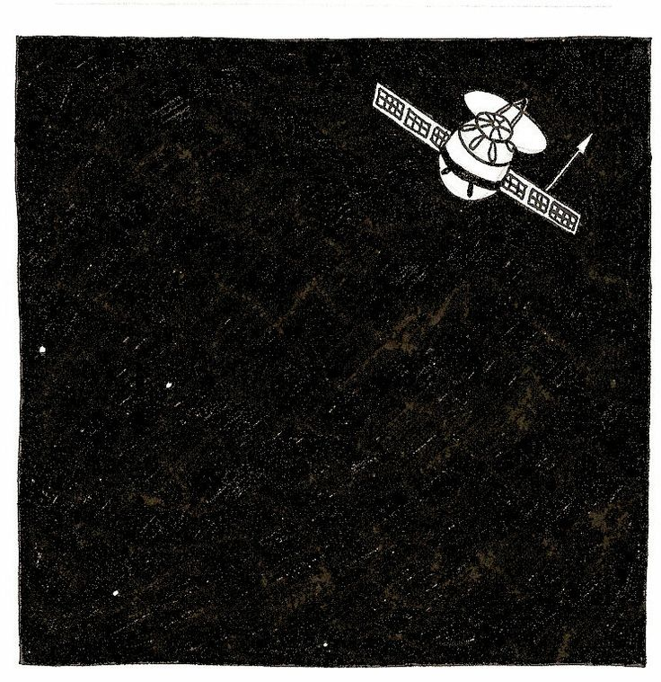 Satelite, 2008.  Pen and paper.