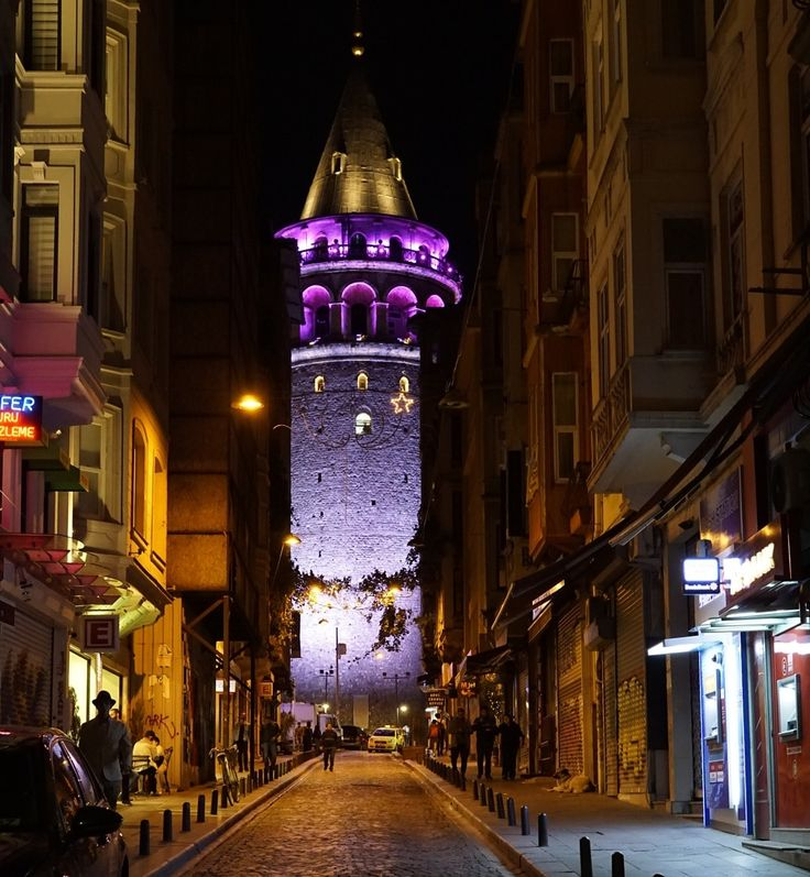 Purple tower by ilker Yalçın - Photo 213417079 / 500px.   #people #istanbul #turkey #türkiye #colors #sony #purple #nightshoot #perspektive #a6000 #galatatower #galatakulesi