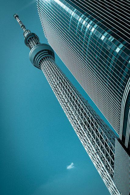 blue sky | Flickr - nice angle on the Tokyo Skytree..
