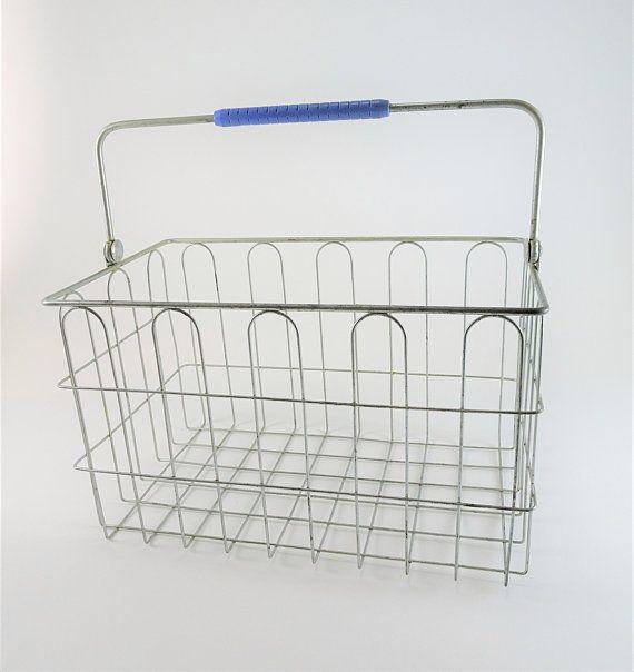 Vintage Milk Wire Basket Milk Bottle Basket Milk Carrier Wire