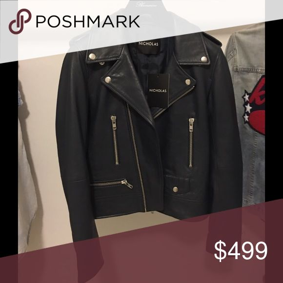 🎉 Weekend SALE! Nicholas Navy Leather Jacket!❣ 😍 Nicholas Navy Leather Moto Jacket! ❣ 😍 Nicholas Jackets & Coats