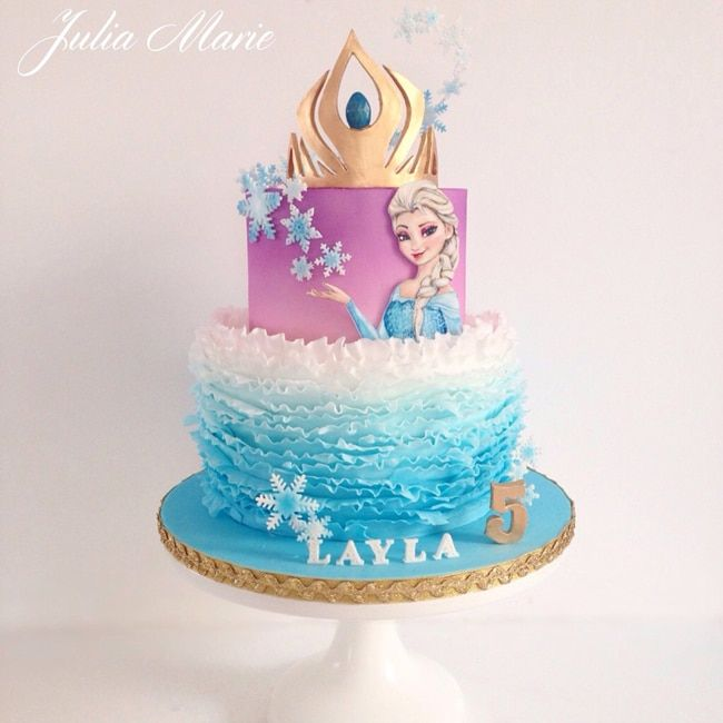 15 Amazing Frozen Inspired Cakes With Images Frozen Birthday