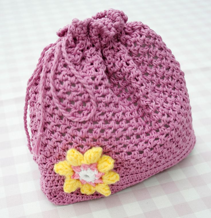 String Bag Crochet Pattern : ... crochet pattern crochet a draw string bag more crochet drawstring bag