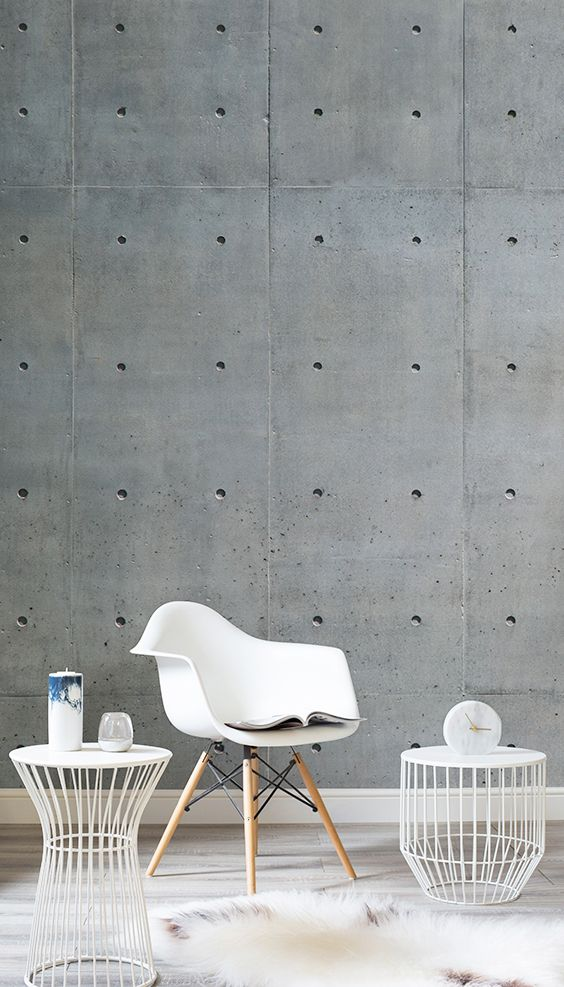 Achieve industrial chic in an instant with this texture wallpaper.