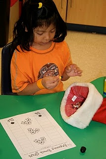 Santa Hat Grab...Pull an item out of Santa's hat and mark the paper for the beginning sound.- Re-pinned by @PediaStaff – Please Visit http://ht.ly/63sNt for all our pediatric therapy pins