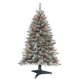 Trim A Home® -4.5 Ft. Pre-Lit Newberry Pine Artificial Christmas Tree with Clear Lights
