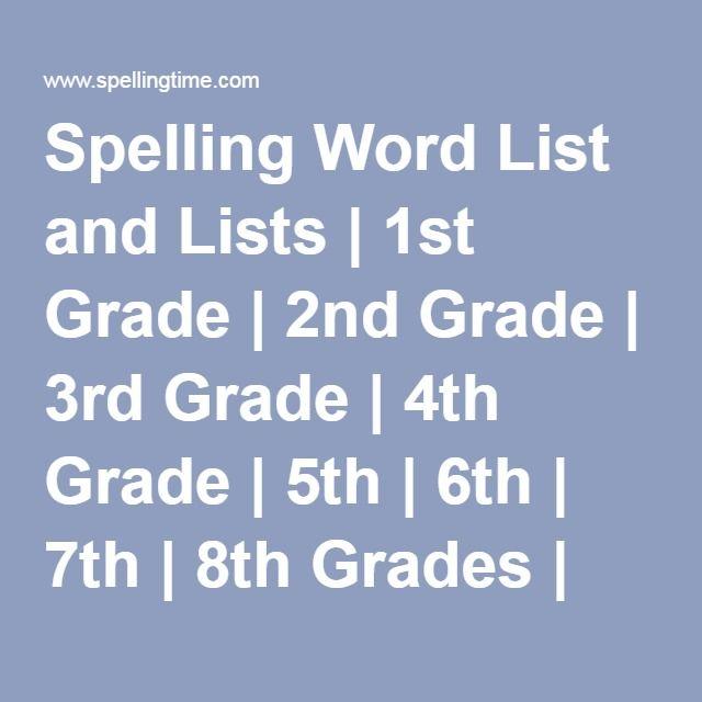 Home Spelling 3rd Grade