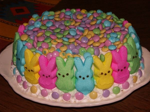 Easter Bunny Cake. Easy to make and so cute! 1 box lemon
