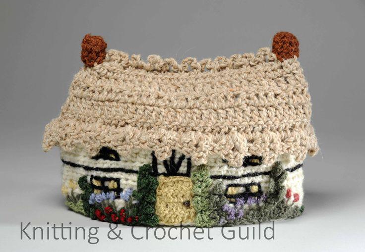 A splendid crocheted cottage tea cosy