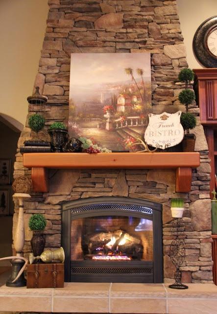 299 mejores im genes sobre chimeneas en pinterest for Lodge style fireplace ideas