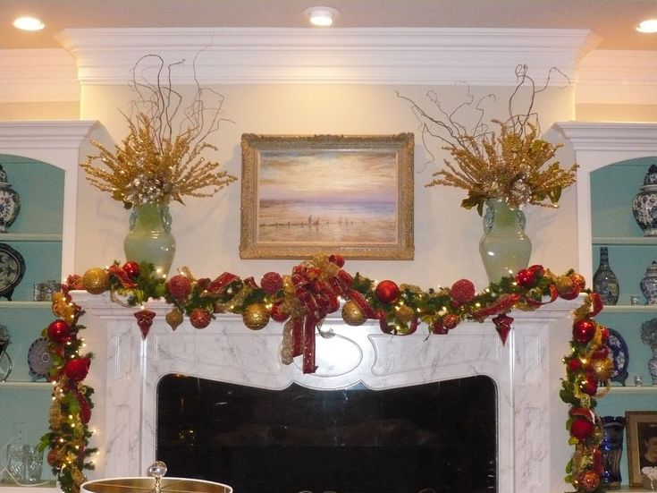 Mantel Decor For Christmas 69 best christmas fireplace mantels images on pinterest