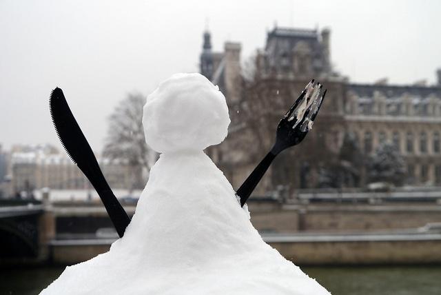 Bonhomme de neige du coin