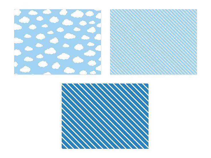 Podkładki papierowe na stół Chmurki.