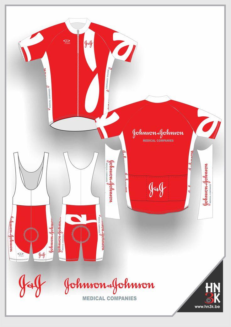 johnsons & johnson  cycling shirt  cycling shin  ort   bike jersey  fietstrui fietsbroek wieleruitrusting  maillot  @hn3k.be