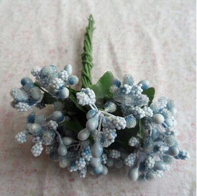72pcs / lote óculos de flores artificiais com miçangas flores / patty casamento casa pulso caixa de doce decorativo flor em Flores & coroas decorativas de Casa & jardim no AliExpress.com