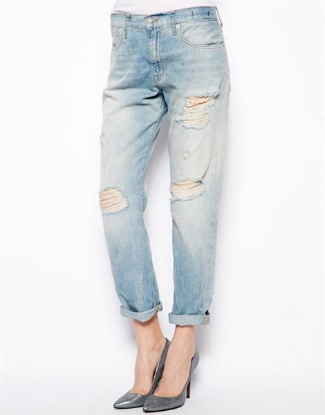 Рваные джинсы большого размера