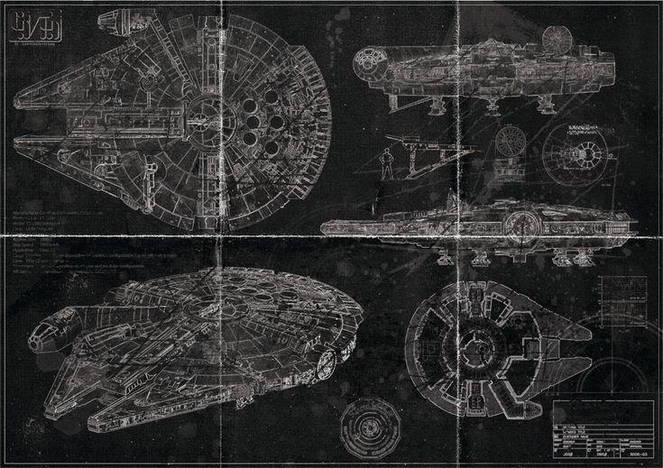 Millennium Falcon Blueprint (Blackprint Edition)