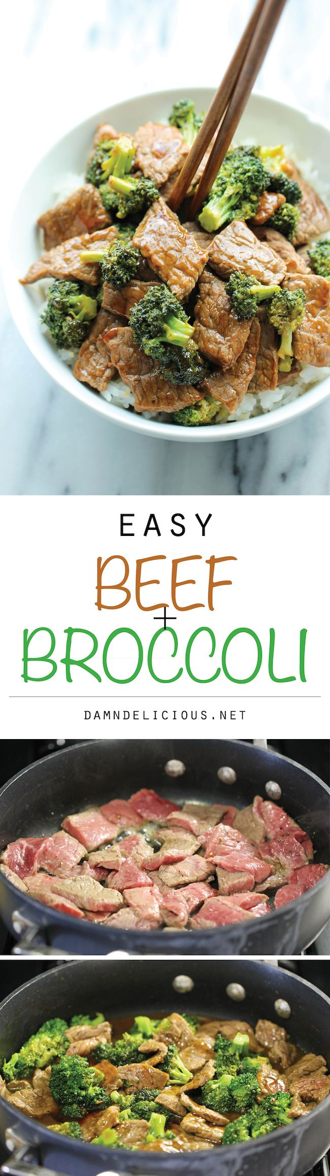 Easy Beef and Broccoli - The BEST beef and broccoli made in 15 min from start to finish. And yes, it's quicker, cheaper and healthier than take-out!