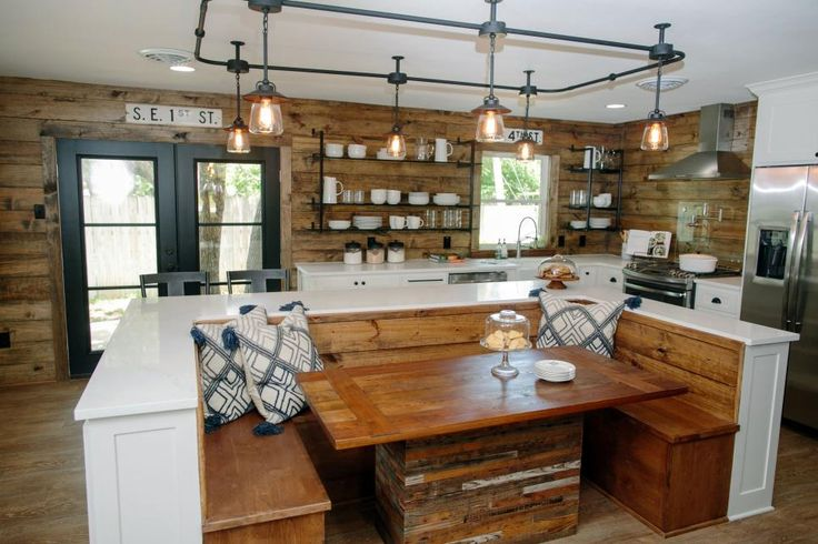 Chip and Joanna add warmth and rustic style to a modern ranch house, creating an ideal family home -- with room to grow -- for a couple with a young son and two recently adopted little girls. In this remodel Chip and the Gaines kids get a shot at being design consultantson the children's rooms, and the much-anticipated
