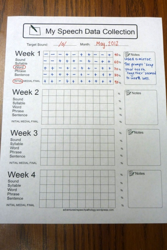 Awesome speech data collection worksheet