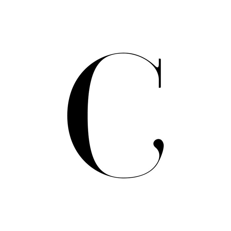 Lettre C Letter C Graphism