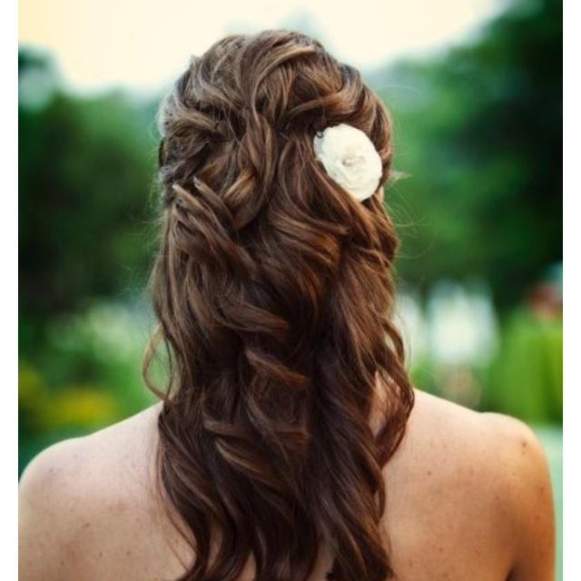 Summertime wedding hair!Hair Beautiful, Hair Ideas, Hair Down, Beautiful Photos, Half Up, Bridesmaid Hair, Up Style, Hair Style, Wedding Hairstyles