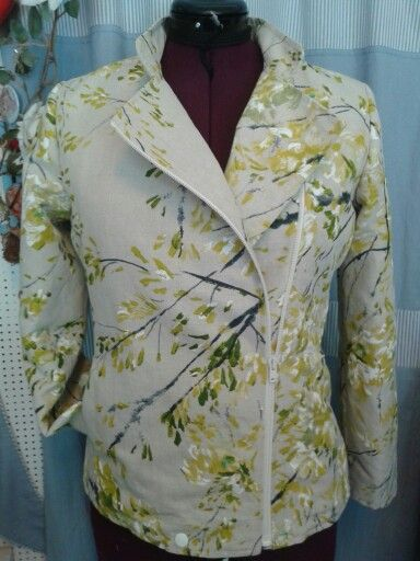 Biker style jacket, fabric from Designers Guild