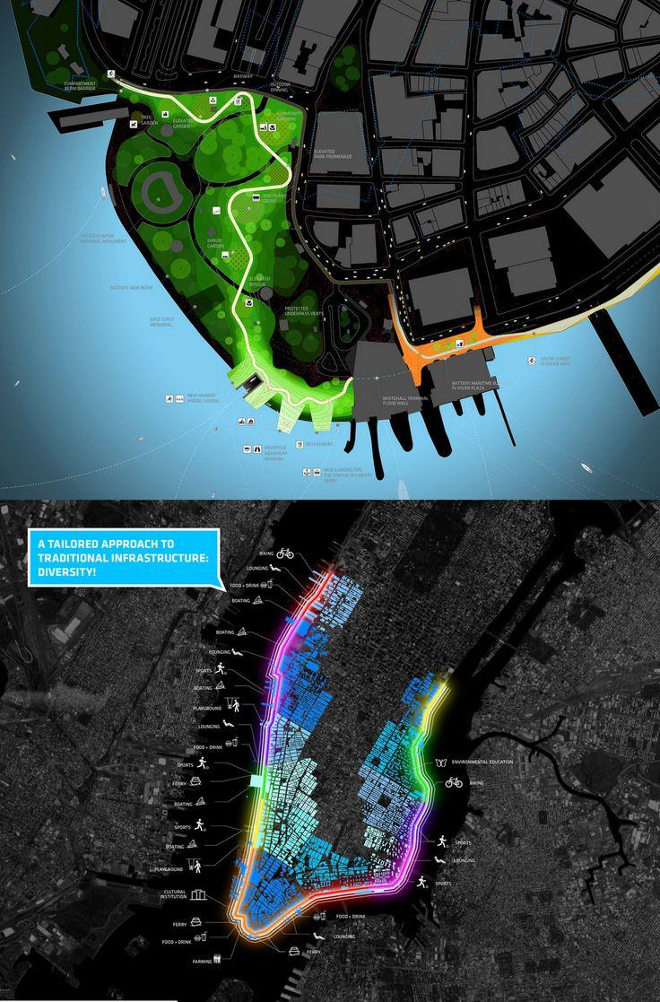 Dibujos guapos desde lejos: HUD the BIG U 2014 - NY  //  BIG Bjarke Ingles Group