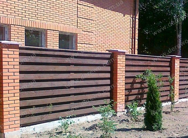 Забор деревянный двухсторонний