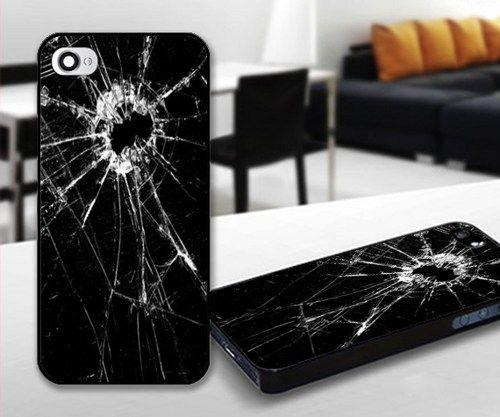 Broken Lcd for iPhone 5 Black case | iPhoneCustomCase - Accessories on ArtFire