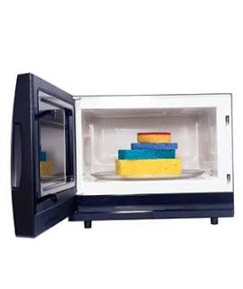 Deodorize sponges in the microwave. Soak in water spiked with white vinegar or lemon juice and put on fill power for one minute. Use tongs to remove as it will be hot!