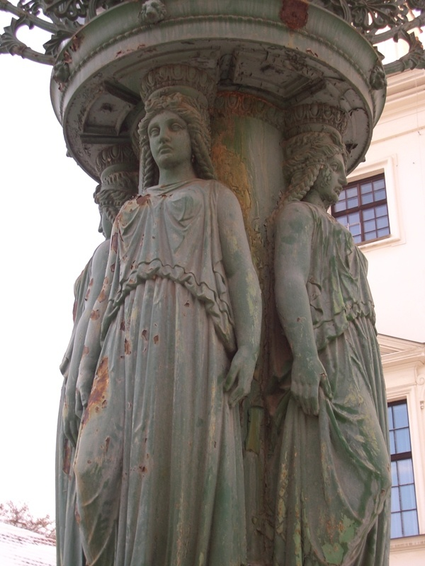 This is actually the base of a street lamp. Prague.