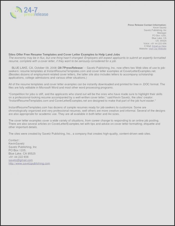 21 Press Release Email Template With Images Cover Letter For