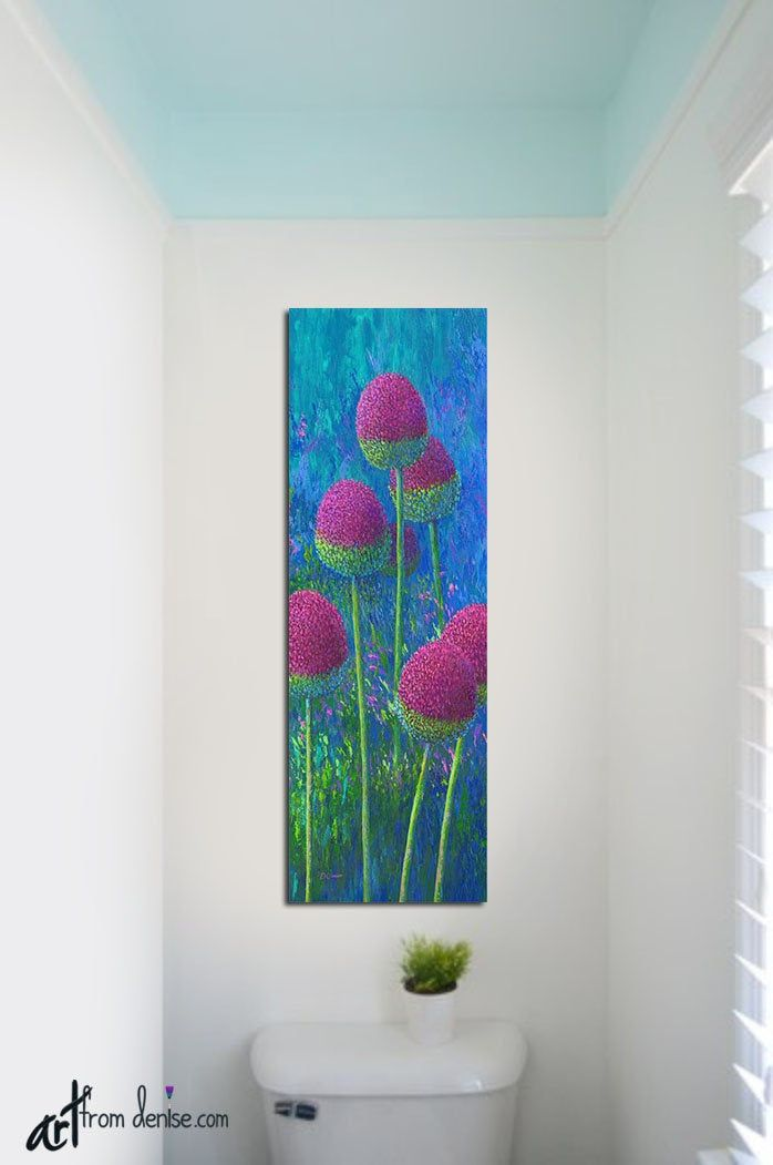 Tall Narrow Vertical Wall Art Canvas Floral Abstract Colorful Etsy Vertical Wall Art Canvas Wall Art Abstract Floral