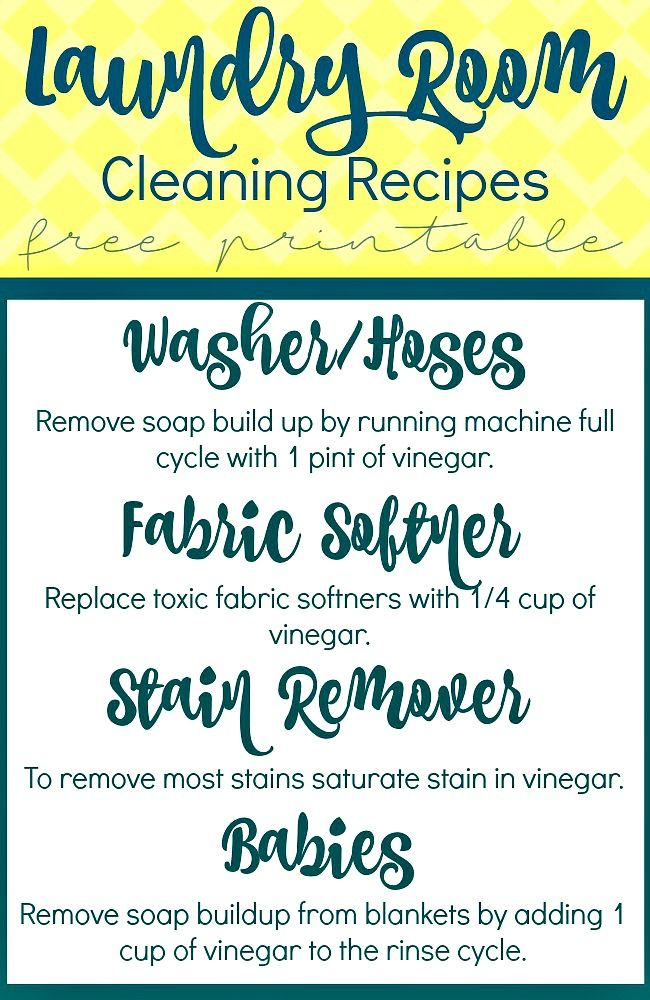 White Vinegar Cleaning Recipes For Your Laundry Room | White vinegar Vinegar and Laundry