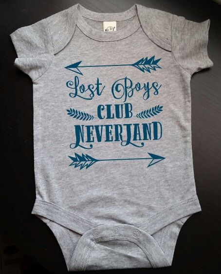 Peter Pan Lost Boys Club Neverland Baby Newborn Bodysuit Neverland Lost Boys Captain Hook by ModernChicKids on Etsy https://www.etsy.com/listing/398721347/peter-pan-lost-boys-club-neverland-baby