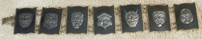 Damascene Shakudo 7 Gods Japan Bracelet, eBay, 10/25/14, sold $80