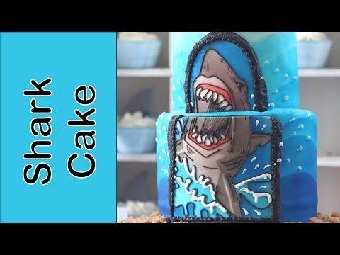 Shark cake - How to make a shark week 2014 - YouTube