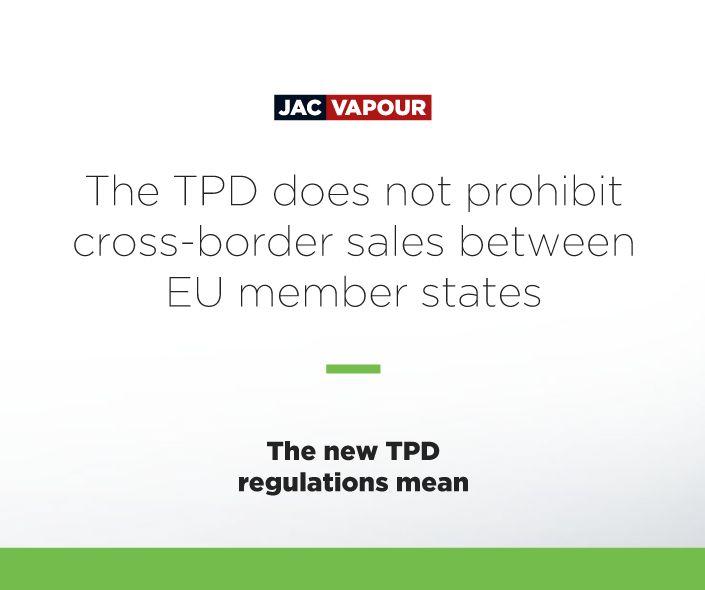 The #TPD does not prohibit cross-border sales of #ecigs between EU member states. #ecig #ecigs #vaping #regulations