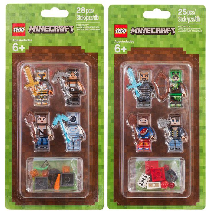 Les visuels officiels des deux nouveaux Skin Packs LEGO Minecraft prévus au 1er…