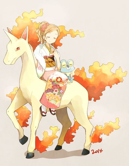 Rapidash, Serena and Froakie