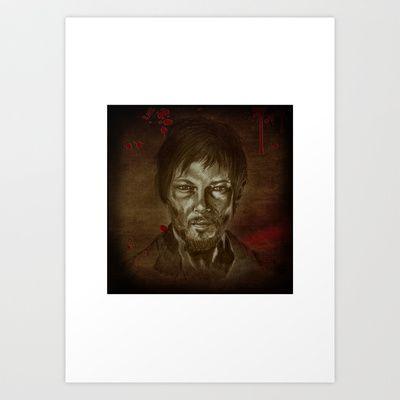 """Daryl Dixon aka Norman Reedus""  Art Print by Magdalena Sky - $22.88"