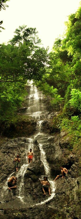 """Waterfall of """"Banyu Nibo"""" in Imogiri Yogyakarta Indonesia"""